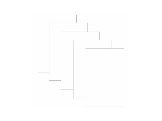 PAPERO AMO - kartičky velké - BÍLÉ #11