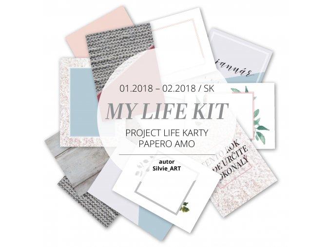 PAPERO AMO - Project Life kartičky - PROJECT LIFE Január / Február 2018