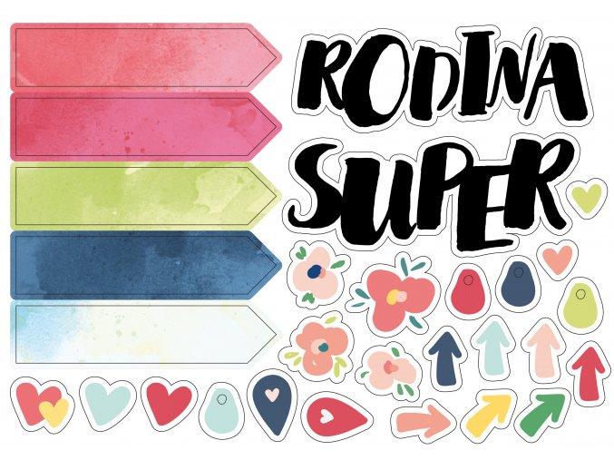 Papírové výseky - SUPER RODINA