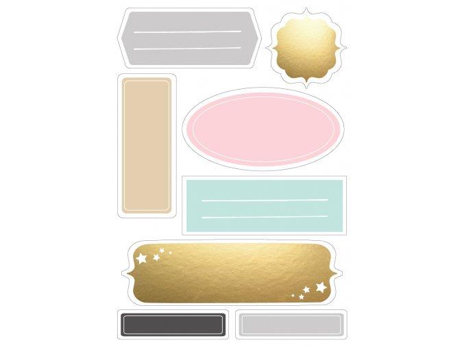 PAPERO AMO - papírové výseky - ADVENT / labels