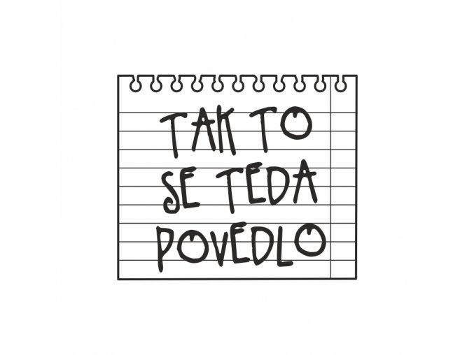 PAPERO AMO - silikonové razítko - TAK TO SE TEDA POVEDLO
