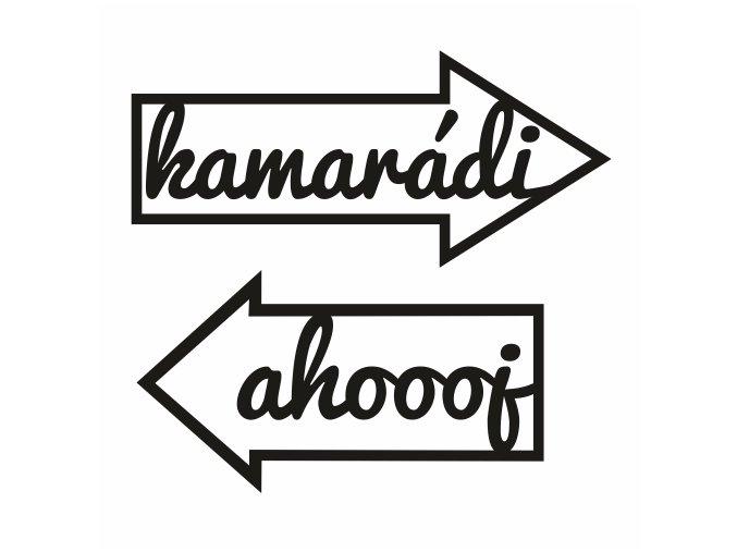 PAPERO AMO - silikonová razítka - KAMARÁDI / AHOJ