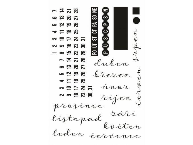 PAPERO AMO - silikonová razítka - CHYTRÝ KALENDÁŘ