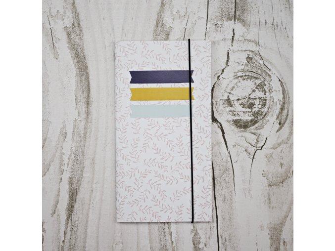 travelers notebook cestovatelsky denicek papero amo kytky 2