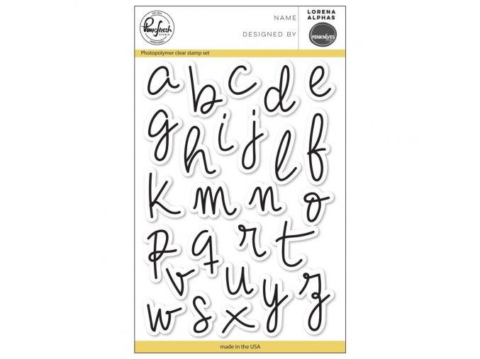 "PINKFRESH STUDIO - Clear Stamp Set 4""X6"" - LORENA ALPHA"