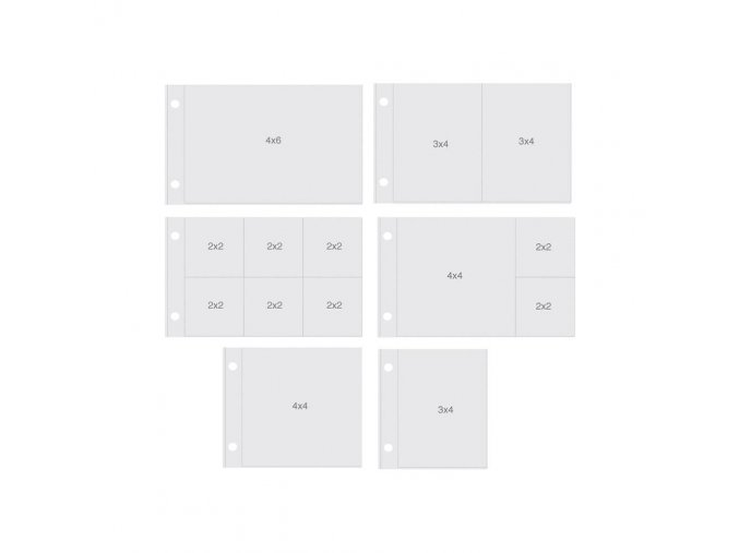 "SIMPLE STORIES - Sn@p! Pocket Pages For 4""X6"" Binders -  HORIZONTAL VARIETY PACK"