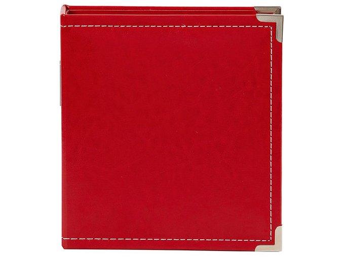 "SCRAPBOOKOVÉ ALBUM 6""X8"" - LEATHER RED / SIMPLE STORIES"