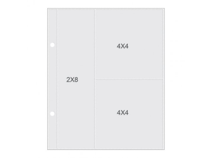 "SIMPLE STORIES - Sn@p! Pocket Pages For 6""X8"" - (1) 2""X8"" & (2) 4""X4"""