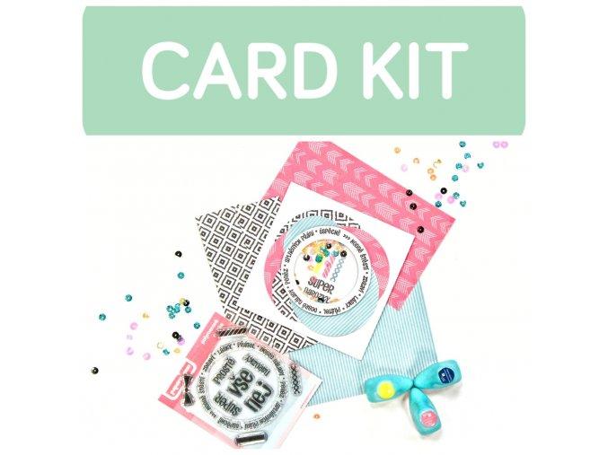 CARD KIT - předplatné 6 ks - ZÁSILKOVNA + DÁREK