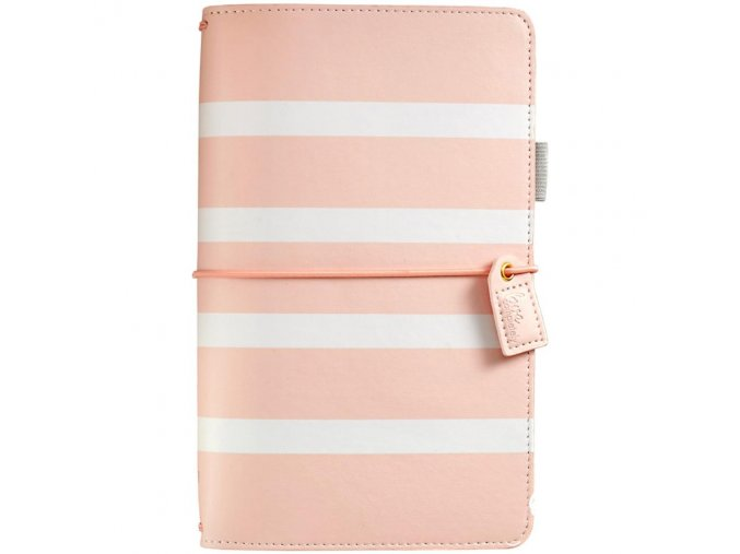 WEBSTER´S PAGES - Color Crush Faux Leather Travelers' Planner - BLUSH STRIPE