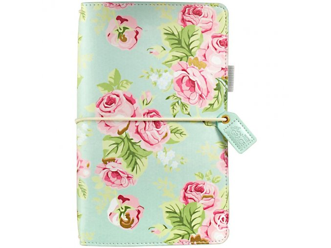 WEBSTER´S PAGES - Color Crush Faux Leather Travelers' Planner - MINT FLORAL