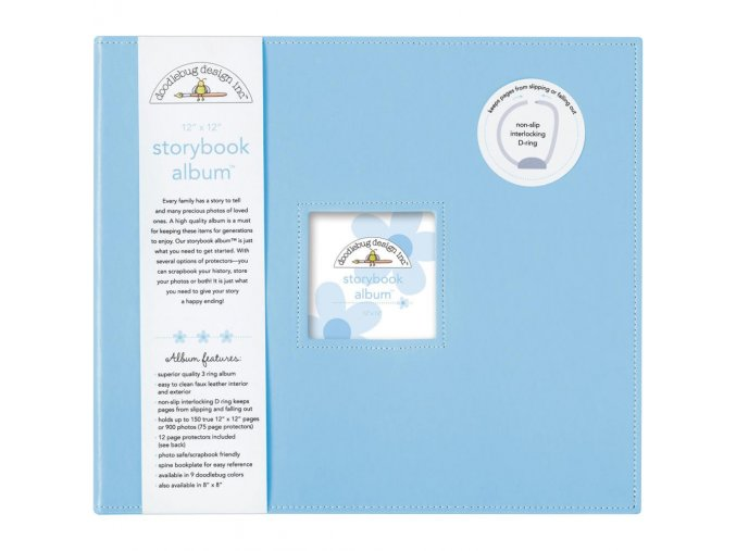 "*** DOODLEBUG - Storybook Album 12""X12"" - BUBLE BLUE"