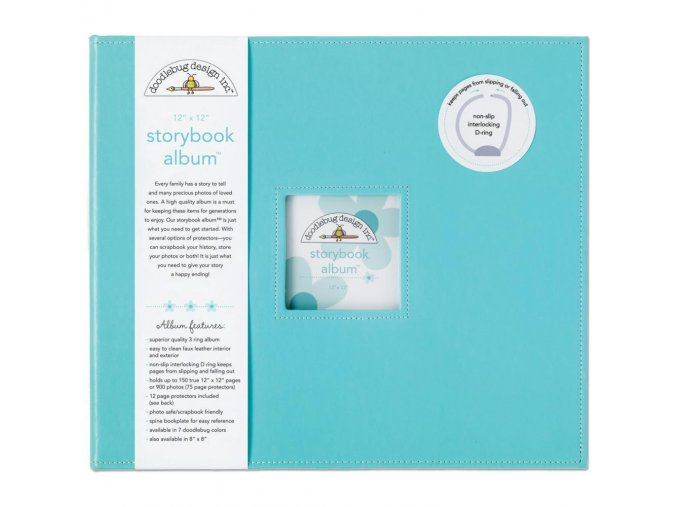 "*** DOODLEBUG - Storybook Album 12""X12"" - SWIMMING POOL"