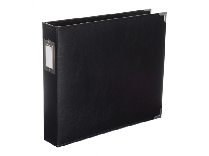 *** WE R MEMORY KEEPERS - Classic Faux Leather album - BLACK