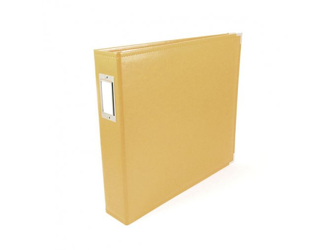 *** WE R MEMORY KEEPERS - Classic Faux Leather album - BUTTERCUP