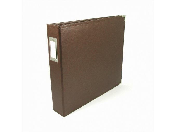 *** WE R MEMORY KEEPERS - Classic Faux Leather album - DARK CHOCOLATE