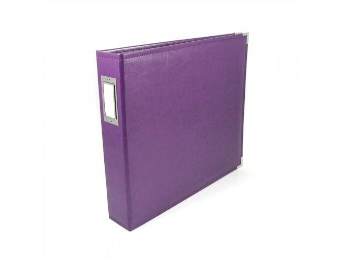 *** WE R MEMORY KEEPERS - Classic Faux Leather album - GRAPE SODA