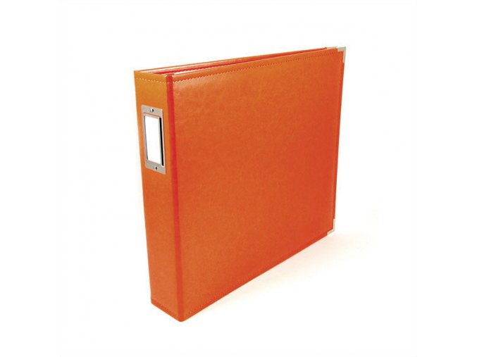*** WE R MEMORY KEEPERS - Classic Faux Leather album - ORANGE SODA
