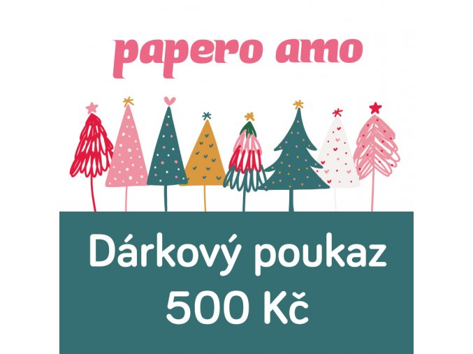 darkovy poukaz vanoce 500