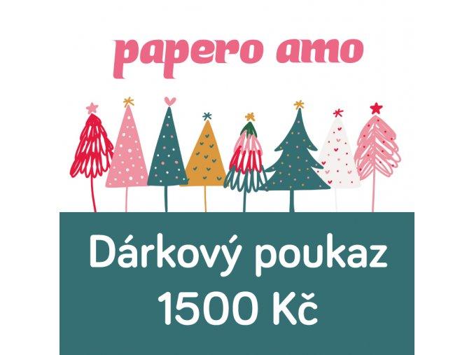 darkovy poukaz vanoce 1500