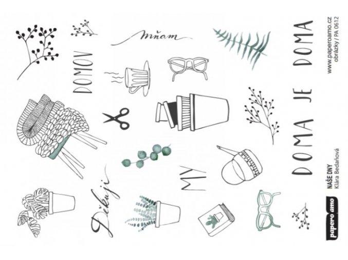 PAPERO AMO - papírové výseky - NAŠE DNY / Obrázky