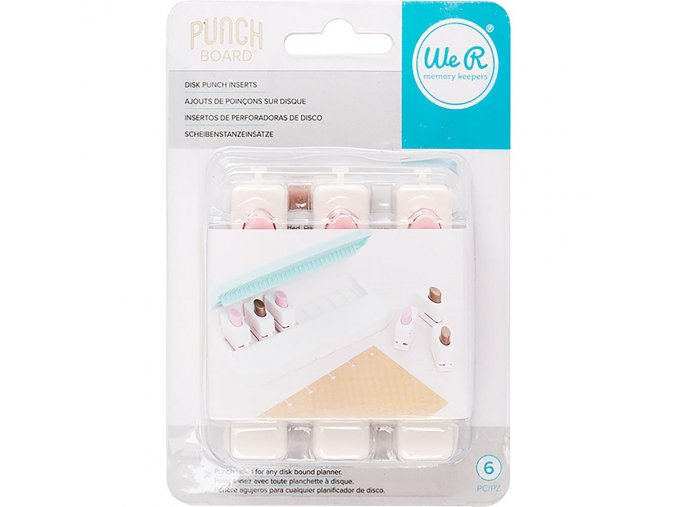 WE R MEMORY KEEPERS - Planner Punch Board - DICS PUNCH INSERTS