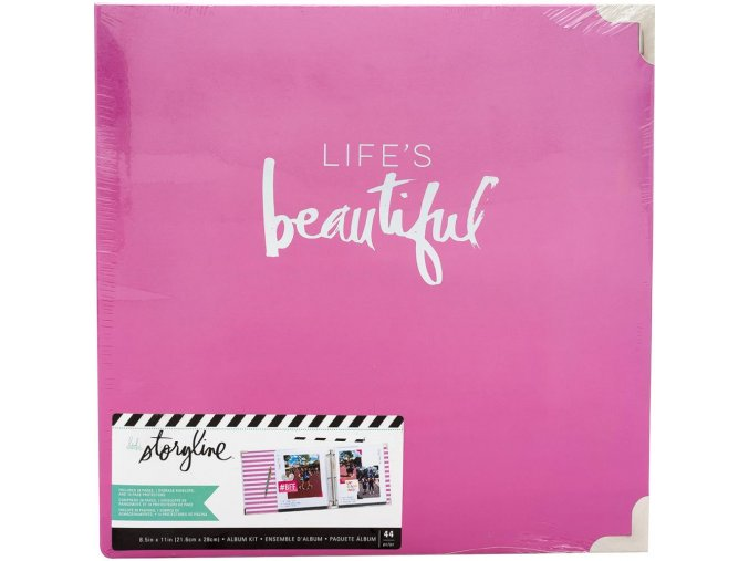 "SCRAPBOOKOVÉ ALBUM 8.5""X11"" - Heidi Swapp / LIFE IS BEAUTIFUL"