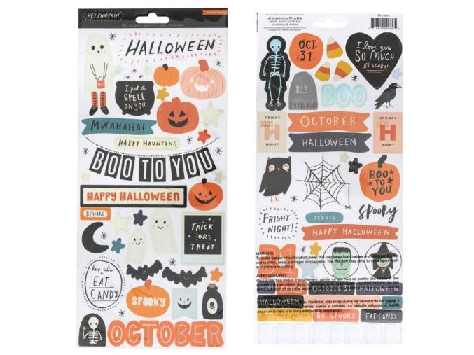 350886 CP HeyPumpkin Stickers Holographic Accents Front