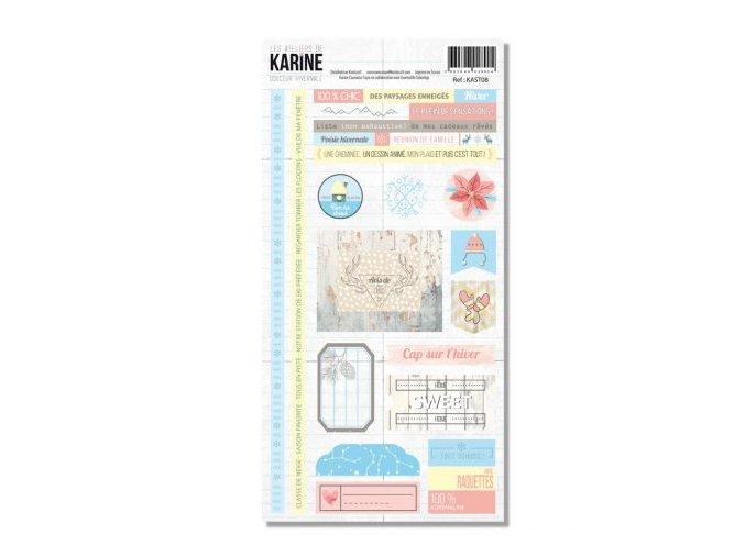 douceur hivernale stickers 20x30 karine cazenave tapie