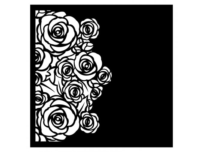 vysekova ctvrtka ruze cerna