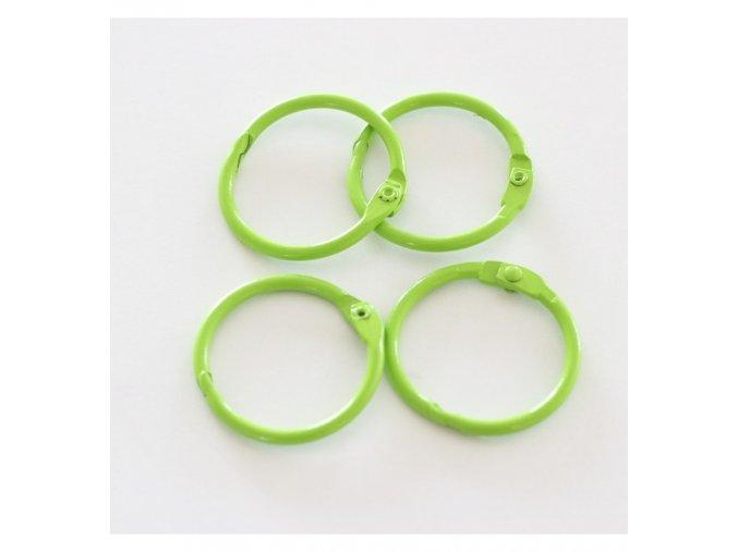 set 4 anillas 1 2 5 cm verde lima