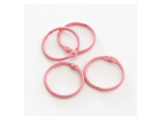 set 4 anillas 1 5 4 cm rosa vintage