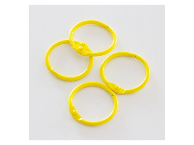 set 4 anillas 1 5 4 cm amarillo canario