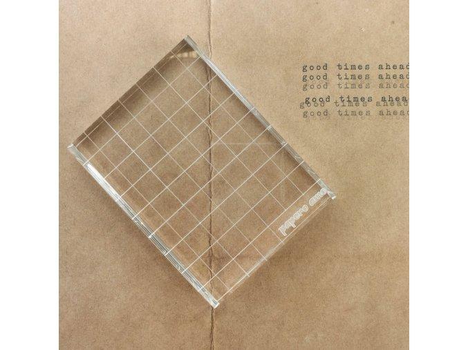Akrylový bloček na razítka - 7.6 x 10 cm