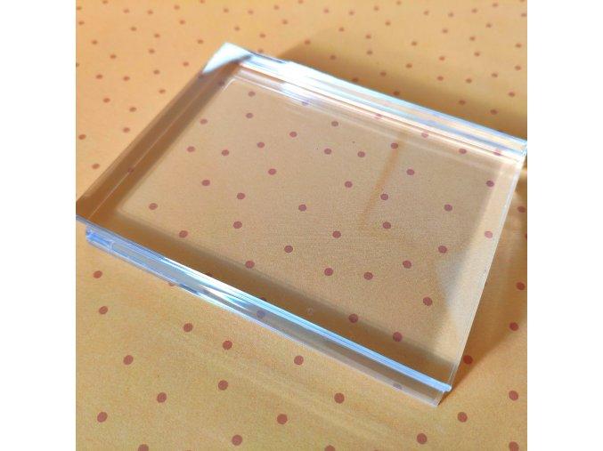 Akrylový bloček na razítka - 7.6 x 10 cm BEZ MŘÍŽKY