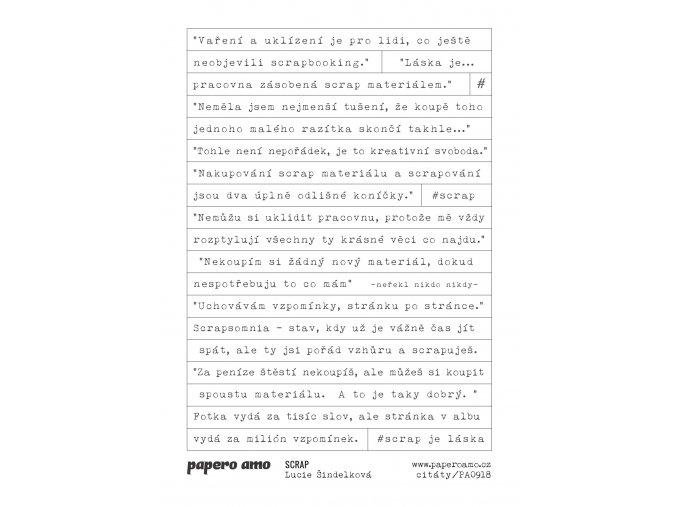 SCRAP samolepky papir 1