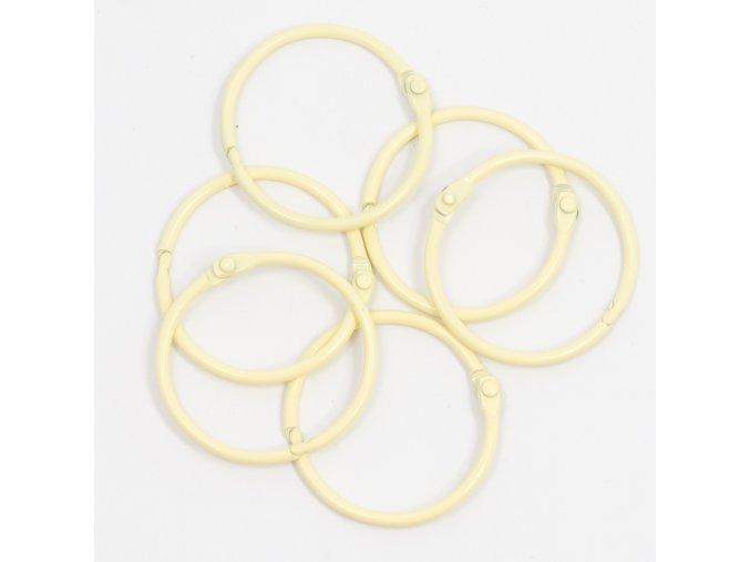 set de 6 anillas 45mm amarillo pastel mi tienda de arte 1