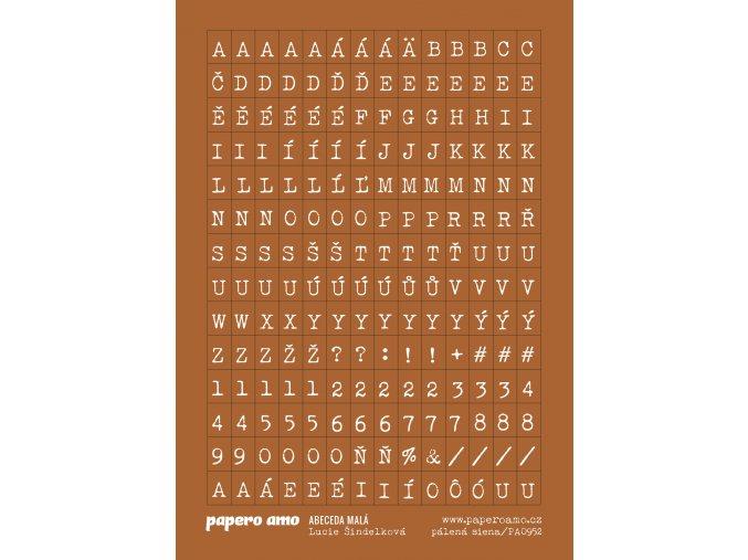 abeceda mala palena siena samolepky papir