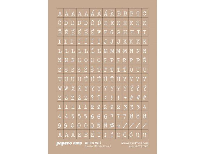 abeceda mala rezna samolepky papir