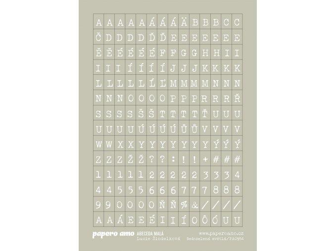 abeceda mala sedozelena svetla samolepky papir