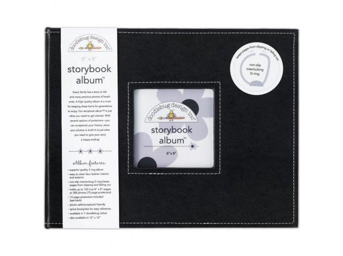 "SCRAPBOOKOVÉ ALBUM 8""X8"" - BEETLE BLACK"