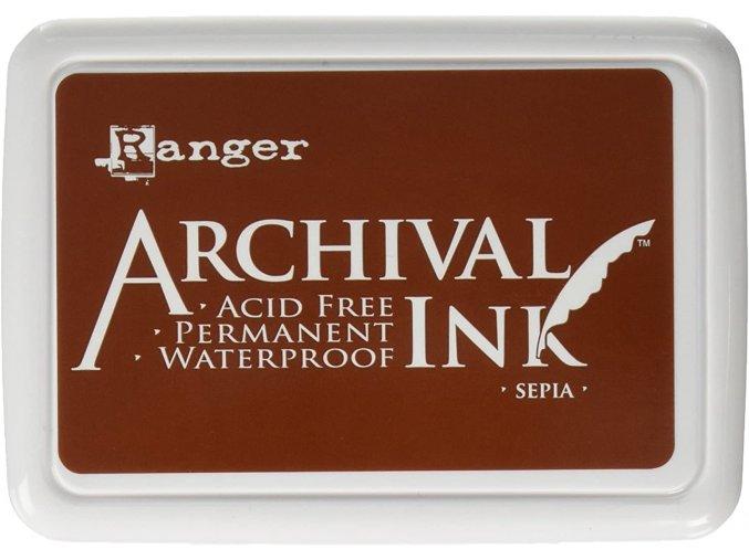 Razítkovací barva RANGER / Archival - SEPIA