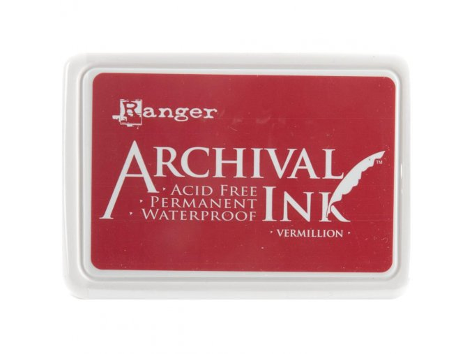 Razítkovací barva RANGER / Archival - VERMILLION