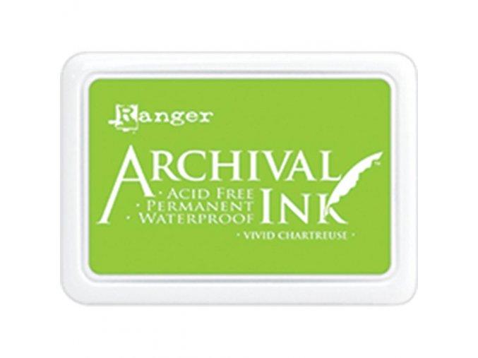 Razítkovací barva RANGER / Archival - VIVID CHARTREUSE