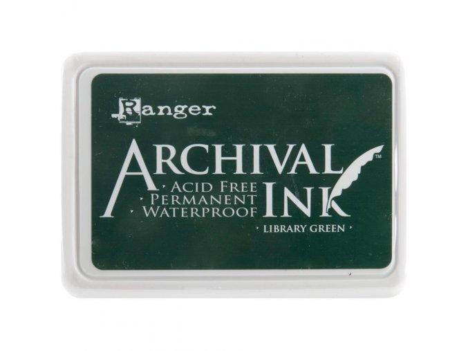 Razítkovací barva RANGER / Archival - LIBRARY GREEN