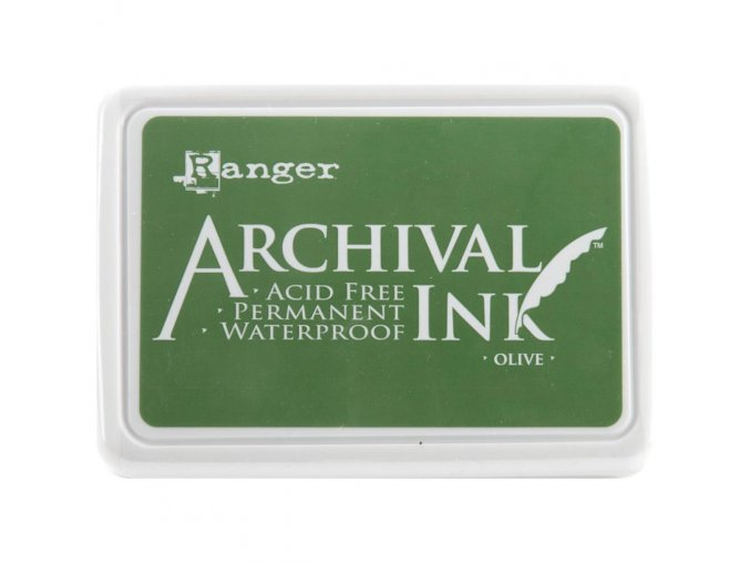 Razítkovací barva RANGER / Archival - OLIVE
