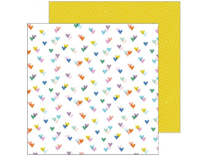 Scrapbookový papír Let´s stay home - KIND HEARTS