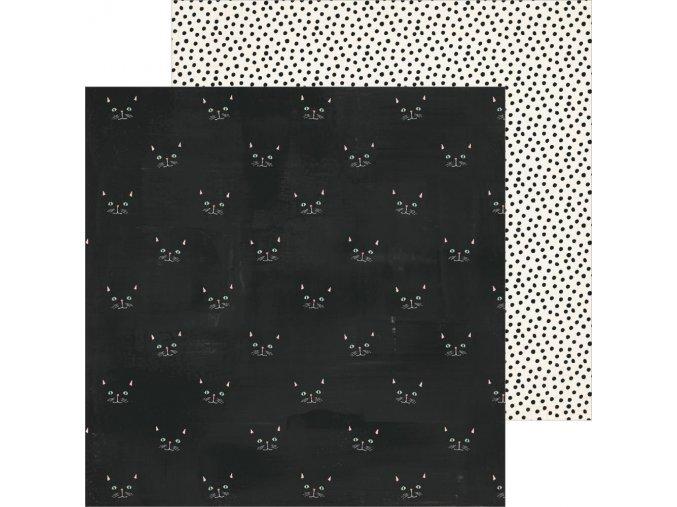 Scrapbooková čtvrtka HEY PUMPKIN - SCAREDY CAT