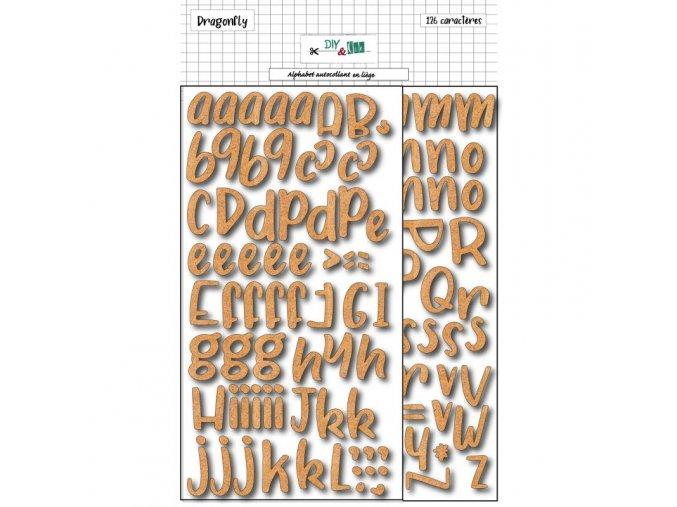 alphabet adhesif en liege diy and cie