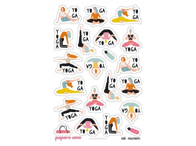 PA0992 samolepky diar yoga 01